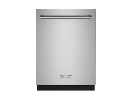 "24"" KitchenAid 44 dBA Dishwasher in PrintShield Finish with FreeFlex Third Rack - KDTM604KPS"