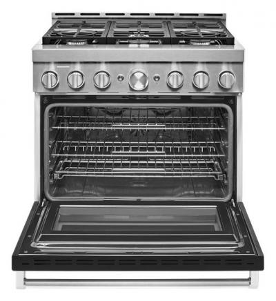 "36"" KitchenAid Smart Commercial-Style Gas Range With 6 Burners - KFGC506JBK"