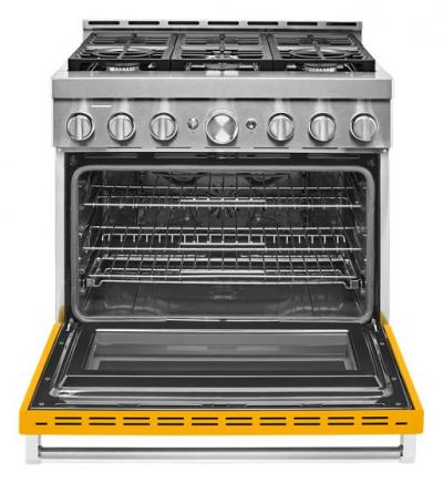 "36"" KitchenAid Yellow Pepper Gas Sealed Burner Range - KFGC506JYP"