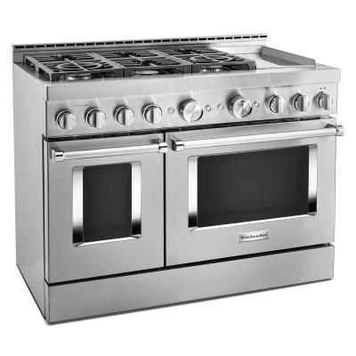 "48"" KitchenAid Smart Commercial-Style Gas Range With Griddle - KFGC558JSS"
