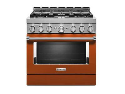 "36"" KithenAid Smart Commercial-Style Gas Range With 6 Burners - KFGC506JSC"