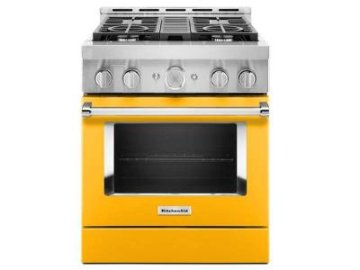 "30"" KitchenAid Smart Commercial-Style Gas Range With 4 Burners - KFGC500JYP"