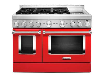 "48"" KithenAid Smart Commercial-Style Gas Range With Griddle - KFGC558JPA"