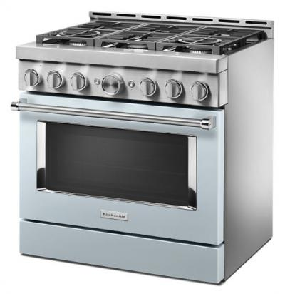 "36"" KitchenAid Smart Commercial-Style Gas Range With 6 Burners - KFGC506JMB"