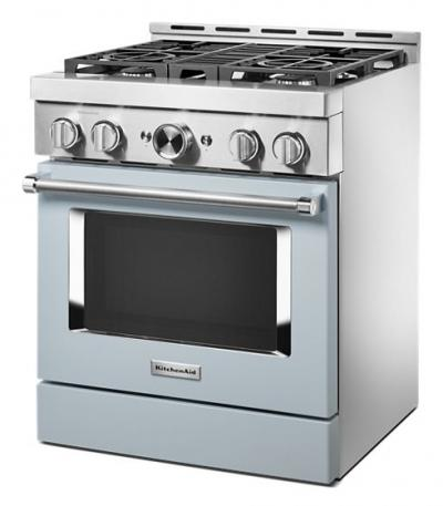 "30"" KitchenAid Smart Commercial-Style Gas Range With 4 Burners - KFGC500JMB"
