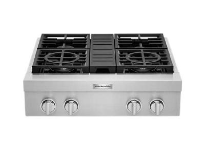 30'' KitchenAid  4-Burner Commercial-Style Gas Rangetop - KCGC500JSS