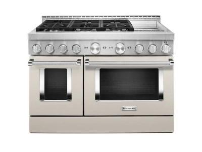 "48"" KitchenAid Smart Commercial-Style Gas Range With Griddle - KFGC558JMH"