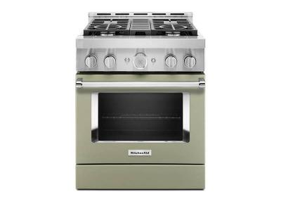 "30"" KitchenAid Smart Commercial-Style Gas Range With 4 Burners - KFGC500JAV"