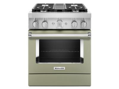 "30"" KitchenAid Smart Commercial-Style Dual Fuel Range with 4 Burners - KFDC500JAV"
