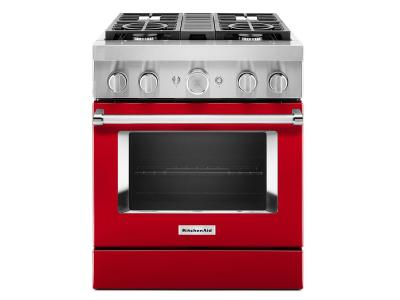 "30"" KitchenAid Smart Commercial-Style Dual Fuel Range with 4 Burners - KFDC500JPA"