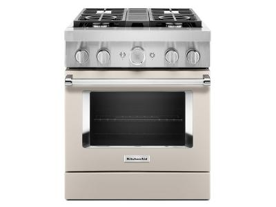 "30"" KitchenAid Smart Commercial-Style Dual Fuel Range with 4 Burners - KFDC500JMH"