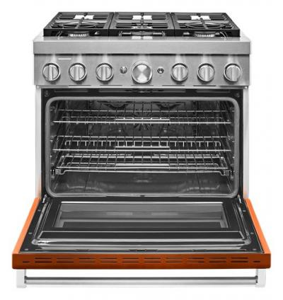 "36"" KitchenAid Smart Commercial-Style Dual Fuel Range With 6 Burners In Scorched Orange - KFDC506JSC"