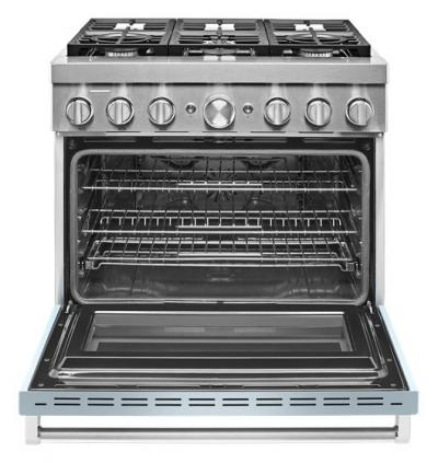 "36"" KitchenAid Smart Commercial-Style Dual Fuel Range with 6 Burners - KFDC506JMB"