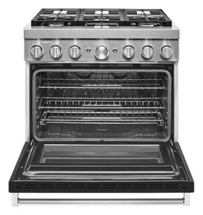 "36"" KitchenAid Smart Commercial-Style Dual Fuel Range with 6 Burners - KFDC506JBK"