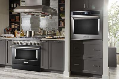 "36"" KitchenAid 5.1 Cu. Ft. Smart Commercial-Style Dual Fuel Range With 6 Burners - KFDC506JBK"