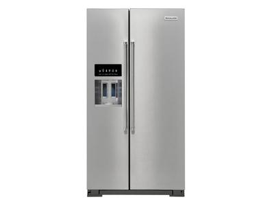 "36"" KitchenAid 24.8 Cu Ft. Side-by-Side Refrigerator - KRSF705HPS"