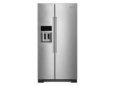 "36"" KitchenAid 22.6 Cu Ft. Counter-Depth Side-by-Side Refrigerator -  KRSC703HPS"