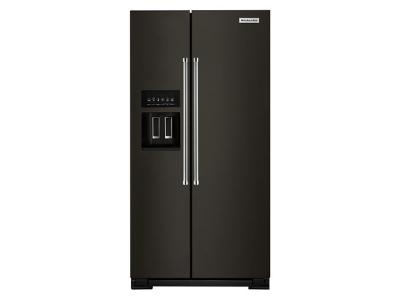 "36"" KitchenAid 19.9 Cu Ft. Counter-Depth Side-by-Side Refrigerator - KRSC700HBS"