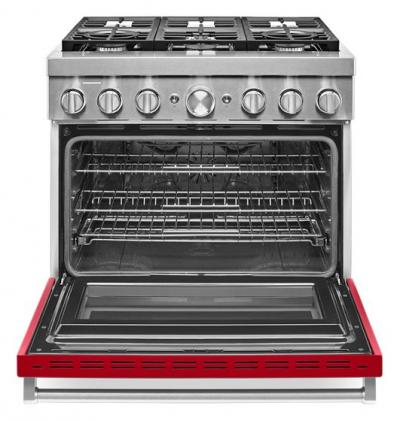 "36"" KitchenAid Smart Commercial-Style Dual Fuel Range with 6 Burners - KFDC506JPA"