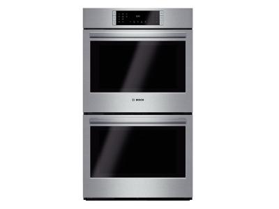"30"" Bosch Double Wall Oven 800 Series - Stainless Steel HBL8651UC"