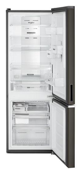 "24"" Whirlpool 12.9 Cu. Ft. Wide Bottom Freezer Refrigerator In Black Stainless - WRB543CMJV"