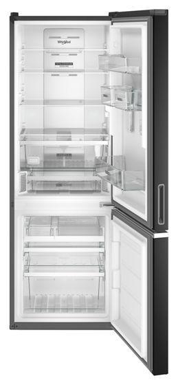 "24"" Whirlpool 12.9 Cu. Ft. Wide Bottom Freezer Refrigerator In Black - WRB533CZJB"