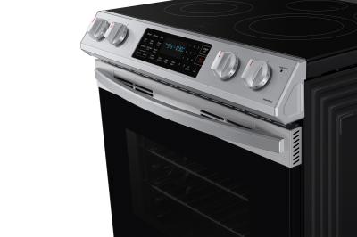 """30"""" Samsung 6.3 Cu. Ft. Electric Range With Fan Convection In Stainless Steel - NE63T8311SS"""