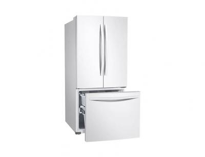 "30"" Samsung French Door Refrigerator with Freezer Located Ice Dispenser - RF220NFTAWW"
