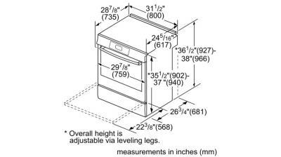 """30"""" Bosch 800 Series Gas Slide-in Range - HGI8046UC"""