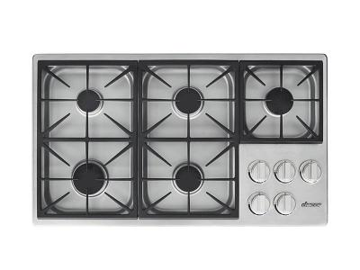 "36"" Dacor Professional Gas Cooktop - HDCT365GS/LP"