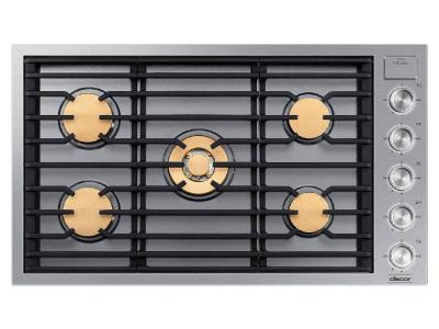 "36"" Dacor Contemporary Series Natural Gas Cooktop - DTG36M955FS"