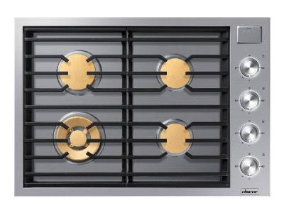 "30"" Dacor Contemporary Series Natural Gas Cooktop - DTG30M954FS"