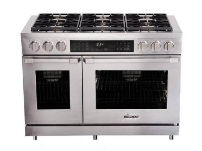 "48"" Dacor Freestanding Dual-Fuel Range with Pure Convection - HDPR48C-C/NG"