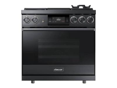 "36"" Dacor Pro Dual-Fuel Steam Range with Griddle - DOP36M94DLM"
