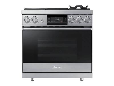 "36"" Dacor Pro Dual-Fuel Steam Range with Griddle - DOP36M94DLS"