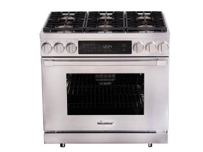 "36"" Dacor Freestanding Dual-Fuel Range with Illumina Burner - HDPR36S-C/NG"