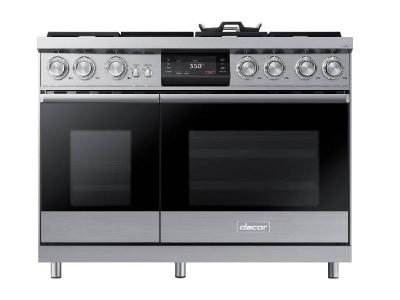 "48"" Dacor Pro Dual-Fuel Steam Range with Griddle - DOP48M96DLS"