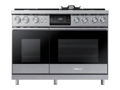 "48"" Dacor Pro Dual-Fuel Steam Range with Griddle - DOP48M96DPS"