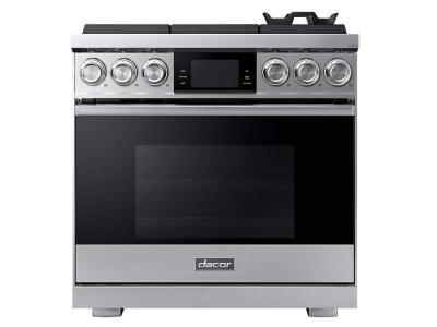 "36"" Dacor 5.4 Cu. Ft. Freestanding Pro Gas Range - DOP36M96GLS"
