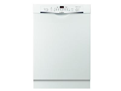 24' Bosch Recessed Handle Dishwasher Ascenta- White SHE3AR72UC