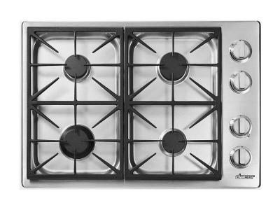 "30"" Dacor Built-in Gas Cooktop with Perma-Flame Technology - HDCT304GSLP"