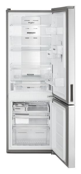 "24"" Whirlpool 12.9 Cu. Ft. Fingerprint Resistant Stainless Steel Bottom Freezer Refrigerator - WRB543CMJZ"