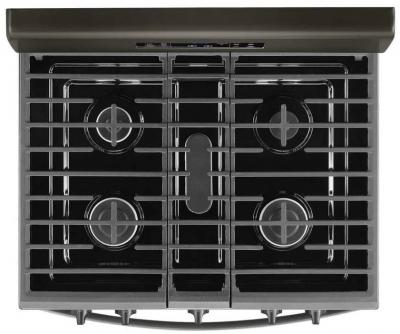 """30"""" Whirlpool 5.0 Cu. Ft. Freestanding Gas Range With Fan Convection Oven - WFG535S0JV"""