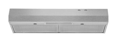 """30"""" Whirlpool  Range Hood with Dishwasher-Safe Full-Width Grease Filters - WVU17UC0JS"""