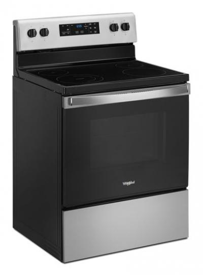 """30"""" Whirlpool 5.3 Cu. Ft. Eelectric Range With Frozen Bake Technology - YWFE515S0JS"""