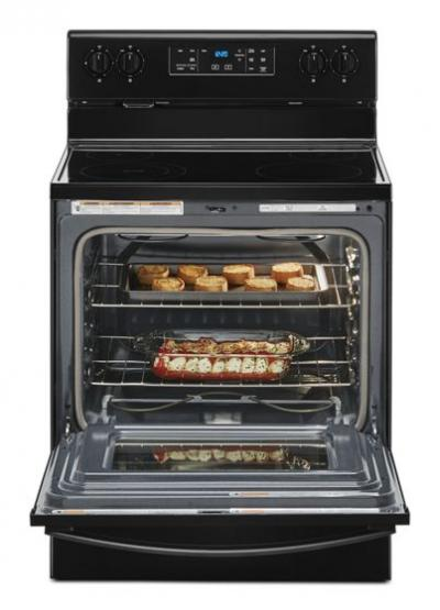 """30"""" Whirlpool 5.3 Cu. Ft. Electric Range with Frozen Bake Technology - YWFE515S0JB"""