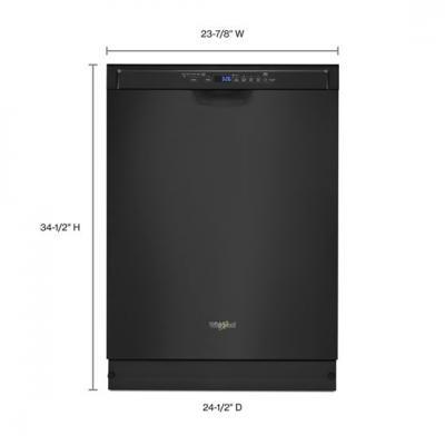 "24"" Whirlpool Dishwasher With Third Level Rack In Black - WDF590SAJB"