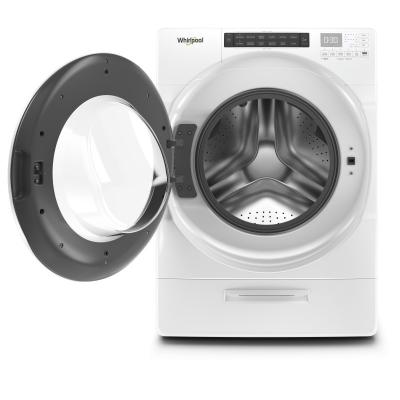 """27"""" Whirlpool 5.2 Cu. Ft. I.E.C. Closet Depth Front Load Washer - WFW5620HW"""
