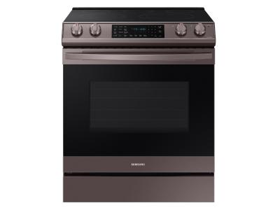 Samsung Smart Slide-in Electric Range With Air Fry In Fingerprint Resistant Tuscan Stainless Steel - NE63T8511ST