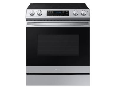 Samsung Smart Slide-in Electric Range With Air Fry In Stainless Steel - NE63T8511SS